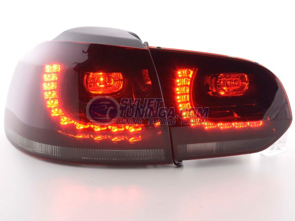 LED LAMPE ZA VW GOLF 6 2008-2012 GOD. GTI IZGLED - CRVENO/CRNE